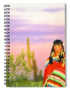 Indian Full Moon Southwest Sunset Spiral Notebook