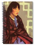 Indian Girl Of San Ildefonso 1917 Spiral Notebook
