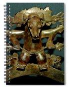 Indian Gold Spiral Notebook