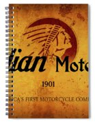 Indian Motocycle 1901 - America's First Motorcycle Company Spiral Notebook
