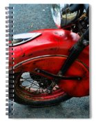 Indian Motorcycle Fender In Red Spiral Notebook