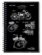 Indian Motorcycle Patent 1943 Black Spiral Notebook