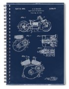 Indian Motorcycle Patent 1943 Blue Spiral Notebook