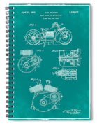 Indian Motorcycle Patent 1943 Green Spiral Notebook