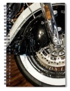 Indian Motorcycle Wheel Spiral Notebook