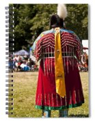 Indian Nation Pow Wow Dancers Spiral Notebook