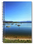 Indian Peaks Marina Pano Spiral Notebook