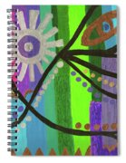 Indian Rainbow Dance Spiral Notebook