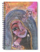Indian Rajasthani Woman With Colorful Background  Spiral Notebook