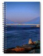 Indian River Inlet Bridge Twilight Spiral Notebook