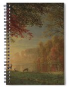Indian Sunset Deer By A Lake Spiral Notebook