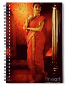 Indian Woman In Traditional 9 Yard Saree Spiral Notebook