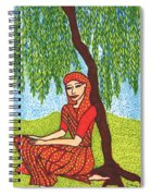 Indian Woman With Weeping Willow Spiral Notebook