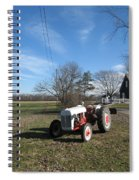 Indiana Hwy 63 South Vintage Ford Tractor Color Version Spiral Notebook