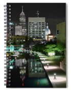 Indianapolis Canal Night View Spiral Notebook
