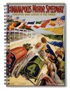 Indianapolis Motor Speedway Vintage Poster 1909 Spiral Notebook