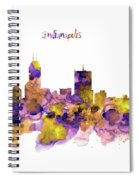 Indianapolis Skyline Silhouette Spiral Notebook
