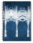 Indigo And White Palm Trees- Art By Linda Woods Spiral Notebook