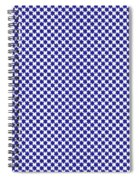 Indigo And White Star Of David- Art By Linda Woods Spiral Notebook