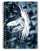Indigo Bird Flight Contemporary Spiral Notebook