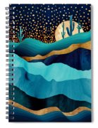 Indigo Desert Night Spiral Notebook