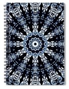 Indigo Flow Blue Kaleidoscope Spiral Notebook