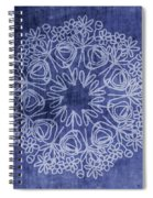 Indigo Mandala 1- Art By Linda Woods Spiral Notebook