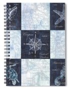 Indigo Nautical Collage Spiral Notebook