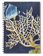 Indigo Ocean - Tan Fan Coral N Angelfish Spiral Notebook