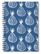 Indigo Pineapple Party Spiral Notebook