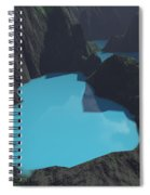 Indonesian Crater Lakes Spiral Notebook