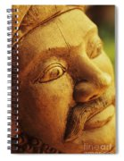 Indonesian Wood Carving Spiral Notebook