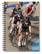 Indoor Bike Race Spiral Notebook