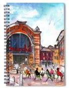 Indoor Market In Albi Spiral Notebook