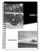 Indy 500 1928 Sam Ross And Leon Duray Spiral Notebook