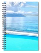 Infinity Pool And Ocean Spiral Notebook