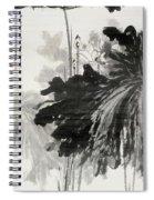 Ink Lotus Spiral Notebook