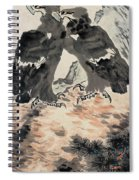 Ink Painting Eagle Spiral Notebook