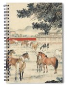 Ink Painting Horse Spiral Notebook