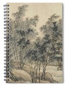 Ink Painting Landscape Bamboo Forest Rivers Spiral Notebook