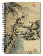 Ink Painting Landscape River Spiral Notebook