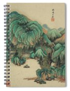 Ink Painting Mountain Thatched Cottage Spiral Notebook