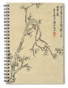 Ink Painting Plum Blossom Spiral Notebook