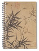 Ink Painting Stone Bamboo Spiral Notebook