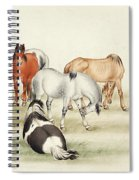 Ink Painting Stud Of Horses Spiral Notebook