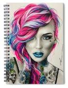 Inked Neon Spiral Notebook