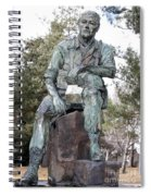 Inland Northwest Veterans Memorial Statue Spiral Notebook