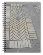 Inlayed Brick Walk Spiral Notebook