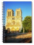 Notre Dame In Sunset Light Spiral Notebook