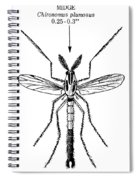 Insect: Midge Spiral Notebook